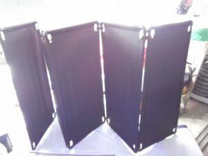 音控台屏風摺疊純黑色